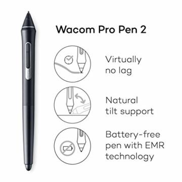 Wacom Cintiq 22 Kreativ-Stift-Display mit Standfuß (zum Illustrieren u. Zeichnen direkt auf dem Bildschirm, mit Full-HD-Display, 1.920 x 1.080, u. Wacom Pro Pen 2, kompatibel mit Windows & Mac) - 3
