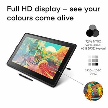 Wacom Cintiq 22 Kreativ-Stift-Display mit Standfuß (zum Illustrieren u. Zeichnen direkt auf dem Bildschirm, mit Full-HD-Display, 1.920 x 1.080, u. Wacom Pro Pen 2, kompatibel mit Windows & Mac) - 5