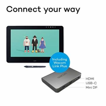 Wacom Cintiq Pro 16 Stift-Display mit 4K, integriertem Standfuß. Pro Pen 2, Link Plus Adapter (für professionelle Künstler und Designer, mit Touchscreen, kompatibel mit Windows und Mac.) - 2
