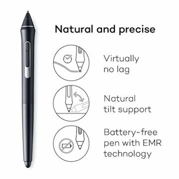 Wacom Cintiq Pro 16 Stift-Display mit 4K, integriertem Standfuß. Pro Pen 2, Link Plus Adapter (für professionelle Künstler und Designer, mit Touchscreen, kompatibel mit Windows und Mac.) - 4