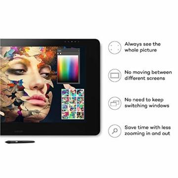 Wacom Cintiq Pro 32 Multi-Touch-Display mit 4K / 32-Zoll-Kreativ-Stift-Display mit integriertem Standfuß inkl. Wacom Pro Pen 2 Stylus mit Stifthalter und Ersatzspitzen, kompatibel mit Windows und Mac - 3