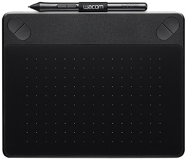 Wacom CTH-490CK-S Intuos Comic Stift-Tablett (Touch S inklusive Softwaredownload von Clip Studio Paint PRO und Anime Studio) schwarz - 1