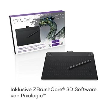 Wacom Intuos 3D Stifttablett, Größe M (inkl. ZBrushCore Softwaredownload, geeignet für Apple MacOS X 10.8.5 oder höher, Microsoft Windows 7 / 8 / 10) Schwarz - 2