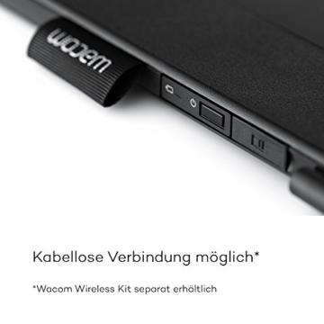 Wacom Intuos 3D Stifttablett, Größe M (inkl. ZBrushCore Softwaredownload, geeignet für Apple MacOS X 10.8.5 oder höher, Microsoft Windows 7 / 8 / 10) Schwarz - 5