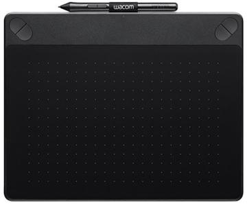 Wacom Intuos Art Medium Black Grafik-Tablett für digitales Malen / Stift-Tablett mit druckempfindlichem Stift und Multitouch-Oberfläche für natürliches Schreibgefühl / Kompatibel mit Mac & Windows - 1