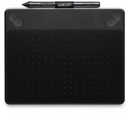 Wacom Intuos Comic Medium Black Grafik-Tablett für digitales Malen von Comics, Mangas und Animationen / Mit druckempfindlichem Stift und Multitouch-Oberfläche / Kompatibel mit Mac & Windows - 1