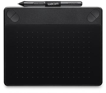 Wacom Intuos Comic Medium Black Grafik-Tablett für digitales Malen von Comics, Mangas und Animationen / Mit druckempfindlichem Stift und Multitouch-Oberfläche / Kompatibel mit Mac & Windows - 1