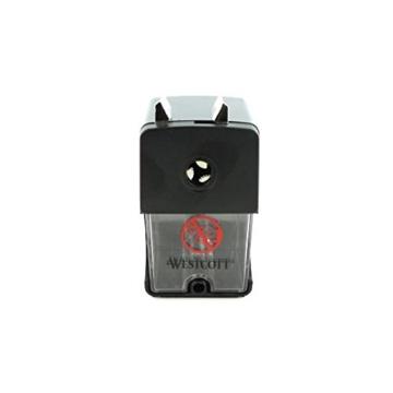 Westcott E-14216 00 Anspitzer für Stiftdurchmesser 7 bis 12 mm, manuell, schwarz - 2
