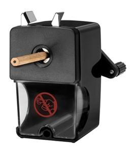Westcott E-14216 00 Anspitzer für Stiftdurchmesser 7 bis 12 mm, manuell, schwarz - 1