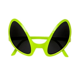 Widmann 0347O - Brille von Außerirdischem, Accessoire, Halloween, Mottoparty, Karneval, Grün - 1
