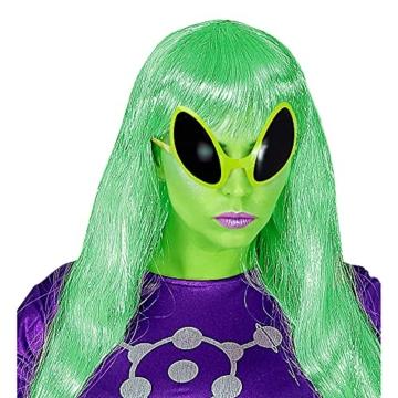 Widmann 0347O - Brille von Außerirdischem, Accessoire, Halloween, Mottoparty, Karneval, Grün - 4