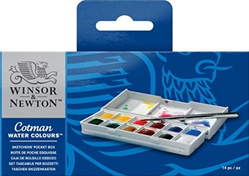 Winsor & Newton Cotman Aquarellfarbe Sketchers Pocket Box 12 halbe Näpfe -
