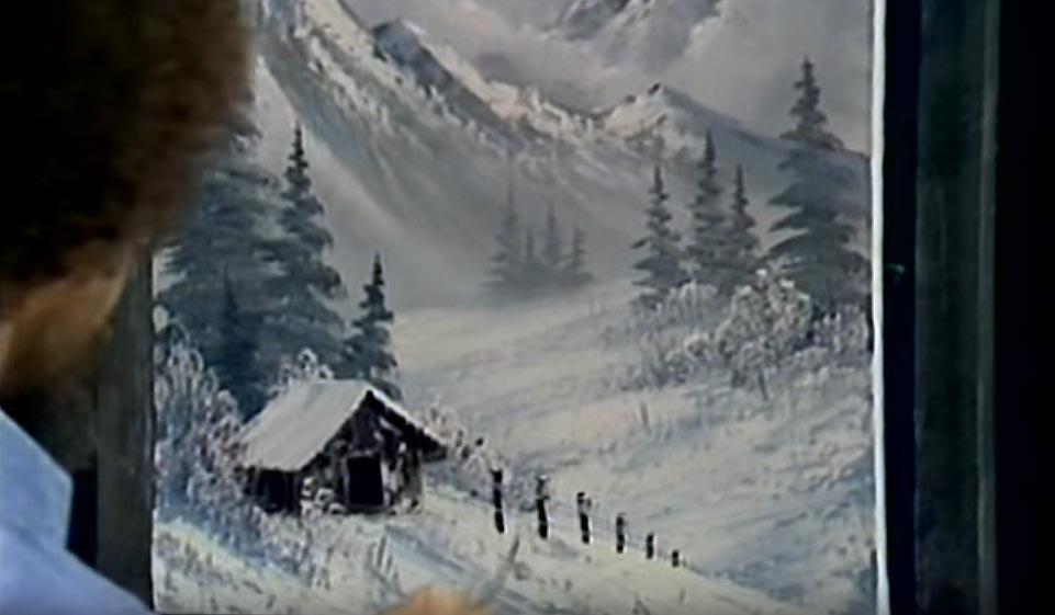 Winterlandschaft (Winter Mist) Ölbild von Bob Ross