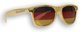 WM Fanbrille - Deutschland gold Doppellogo KIDS - Sonnenbrille - Fan Artikel - 1