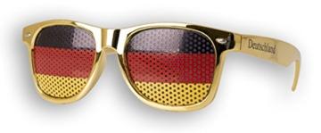 WM Fanbrille - Deutschland gold Doppellogo KIDS - Sonnenbrille - Fan Artikel - 2