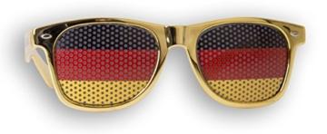 WM Fanbrille - Deutschland gold Doppellogo KIDS - Sonnenbrille - Fan Artikel - 3