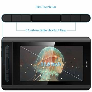XP-PEN Artist 12 Grafikmonitor Drawing Pen Tablet Pen Display 1920 X 1080 HD IPS mit Touch Bar Zeichnen Stift P06 mit dem Radiergummi zum Fernunterricht Home-Office (Artist 12) - 3