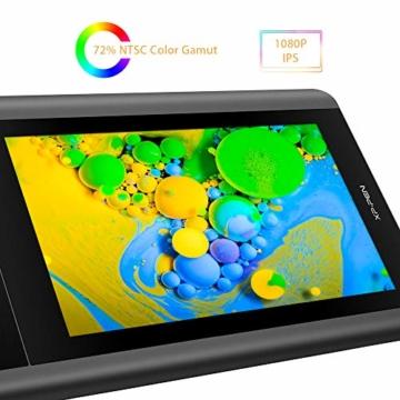 XP-PEN Artist 12 Grafikmonitor Drawing Pen Tablet Pen Display 1920 X 1080 HD IPS mit Touch Bar Zeichnen Stift P06 mit dem Radiergummi zum Fernunterricht Home-Office (Artist 12) - 4