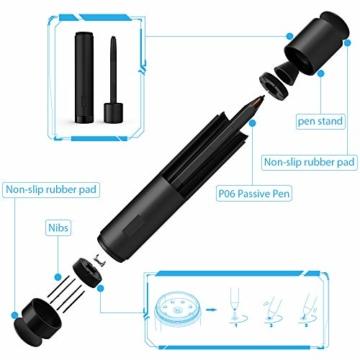 XP-PEN Artist 12 Grafikmonitor Drawing Pen Tablet Pen Display 1920 X 1080 HD IPS mit Touch Bar Zeichnen Stift P06 mit dem Radiergummi zum Fernunterricht Home-Office (Artist 12) - 6