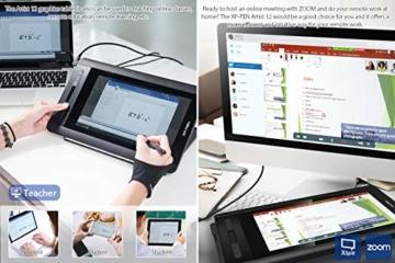 XP-PEN Artist 12 Grafikmonitor Drawing Pen Tablet Pen Display 1920 X 1080 HD IPS mit Touch Bar Zeichnen Stift P06 mit dem Radiergummi zum Fernunterricht Home-Office (Artist 12) - 9