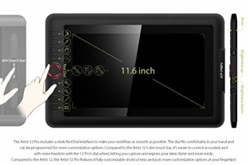 XP-PEN Artist 12 Pro 11,6 Zoll Grafiktablett mit Pen IPS Display Drawing Tablet 60° Neigungserkennung für Fernunterricht Home-Office - 2