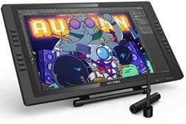 XP-PEN Artist 22E Pro HD IPS Grafikmonitor Drawing Tablet 8192 Druckstufen mit 16 Schnellzugriffstasten unterstützt 4k Monitore Windows 10/8/7 und Mac OS 10.8 (22E Pro, Schwarz) - 1
