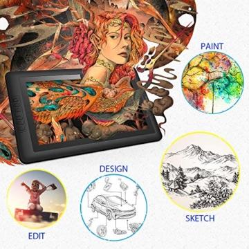 XP-PEN Artist15.6 IPS Zeichen-Display Pen Tablet 8192 Druck-Sensitivität batterielos Stift mit Grafikshandschuh Stifthalter Reinigungstuch Spitze - 3