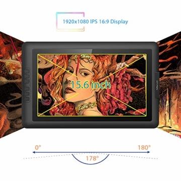 XP-PEN Artist15.6 IPS Zeichen-Display Pen Tablet 8192 Druck-Sensitivität batterielos Stift mit Grafikshandschuh Stifthalter Reinigungstuch Spitze - 4