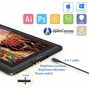 XP-PEN Artist15.6 IPS Zeichen-Display Pen Tablet 8192 Druck-Sensitivität batterielos Stift mit Grafikshandschuh Stifthalter Reinigungstuch Spitze - 5