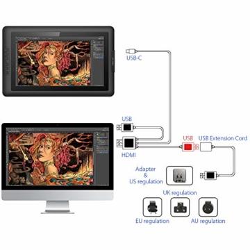XP-PEN Artist15.6 IPS Zeichen-Display Pen Tablet 8192 Druck-Sensitivität batterielos Stift mit Grafikshandschuh Stifthalter Reinigungstuch Spitze - 6