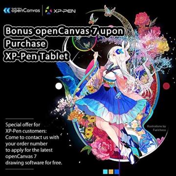 XP-PEN Artist15.6 IPS Zeichen-Display Pen Tablet 8192 Druck-Sensitivität batterielos Stift mit Grafikshandschuh Stifthalter Reinigungstuch Spitze - 10