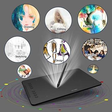 XP-PEN Deco 01 V2 Grafiktablett Drawing Tablet Neigungsfunktion Mobiles Zeichentablett zum Malen & für Fotobearbeitung für Fernunterricht Home-Office - 2