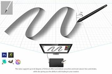 XP-PEN Deco 01 V2 Grafiktablett Drawing Tablet Neigungsfunktion Mobiles Zeichentablett zum Malen & für Fotobearbeitung für Fernunterricht Home-Office - 6