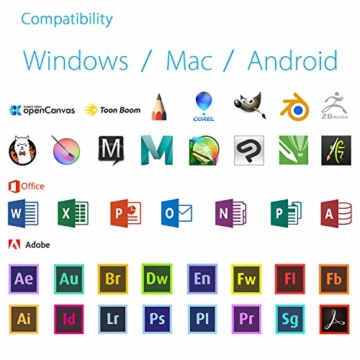 XP-PEN Deco 01 V2 Grafiktablett Drawing Tablet Neigungsfunktion Mobiles Zeichentablett zum Malen & für Fotobearbeitung für Fernunterricht Home-Office - 9