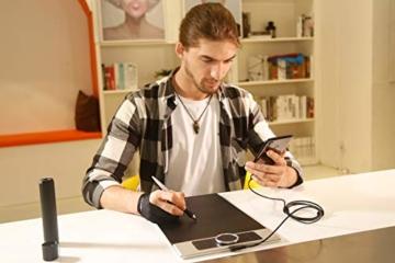 XP-PEN Deco Pro Medium 15x8 Zoll Grafiktablett Pen Tablet Mobiles Zeichentablett zum Malen für Fernunterricht Home-Office mit Doppelrad 8192 Druckstufen - 11