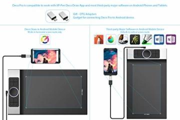 XP-PEN Deco Pro Medium 15x8 Zoll Grafiktablett Pen Tablet Mobiles Zeichentablett zum Malen für Fernunterricht Home-Office mit Doppelrad 8192 Druckstufen - 3