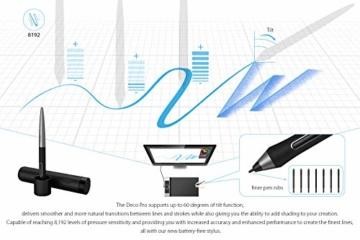 XP-PEN Deco Pro Medium 15x8 Zoll Grafiktablett Pen Tablet Mobiles Zeichentablett zum Malen für Fernunterricht Home-Office mit Doppelrad 8192 Druckstufen - 5