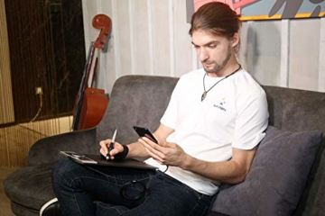 XP-PEN Deco Pro Small 13x7 Zoll Grafiktablett Pen Tablet Mobiles Grafiktablett zum Zeichnen für Fernunterricht Home-Office mit Doppelrad 8192 Druckstufen - 5