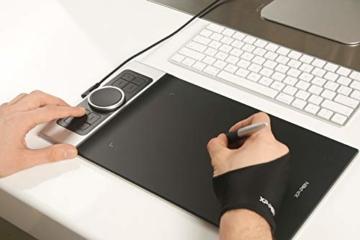 XP-PEN Deco Pro Small 13x7 Zoll Grafiktablett Pen Tablet Mobiles Grafiktablett zum Zeichnen für Fernunterricht Home-Office mit Doppelrad 8192 Druckstufen - 10