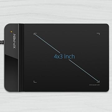 XP-PEN G430S 4X 3 Zoll Grafiktablett OSU! Spielen Pen Tablet Stift Tablett 8192 Druckempfindlichkeitsstufen für Fernunterricht Home-Office (G430S, Schwarz) - 2