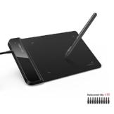 XP-PEN G430S 4X 3 Zoll Grafiktablett OSU! Spielen Pen Tablet Stift Tablett 8192 Druckempfindlichkeitsstufen für Fernunterricht Home-Office (G430S, Schwarz) - 1