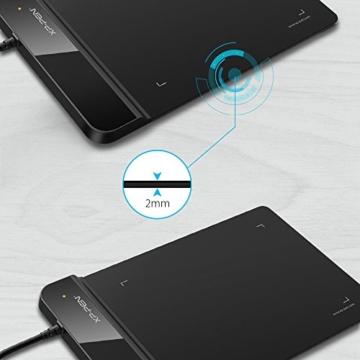 XP-PEN G430S 4X 3 Zoll Grafiktablett OSU! Spielen Pen Tablet Stift Tablett 8192 Druckempfindlichkeitsstufen für Fernunterricht Home-Office (G430S, Schwarz) - 4