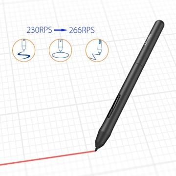 XP-PEN G430S 4X 3 Zoll Grafiktablett OSU! Spielen Pen Tablet Stift Tablett 8192 Druckempfindlichkeitsstufen für Fernunterricht Home-Office (G430S, Schwarz) - 5