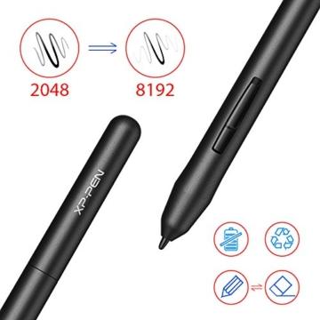 XP-PEN G430S 4X 3 Zoll Grafiktablett OSU! Spielen Pen Tablet Stift Tablett 8192 Druckempfindlichkeitsstufen für Fernunterricht Home-Office (G430S, Schwarz) - 6