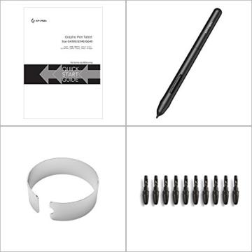 XP-PEN G430S 4X 3 Zoll Grafiktablett OSU! Spielen Pen Tablet Stift Tablett 8192 Druckempfindlichkeitsstufen für Fernunterricht Home-Office (G430S, Schwarz) - 9