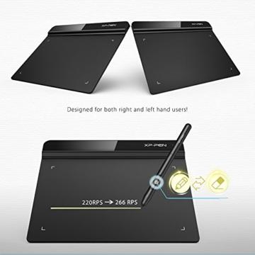XP-PEN G640 6 x 4 Zoll Drawing Tablet Grafiktablett Pen Tablet OSU! Spielen für Fernunterricht Home-Office 20 Ersatz Nibs (G640, Schwarz) - 4