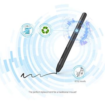 XP-PEN G640 6 x 4 Zoll Drawing Tablet Grafiktablett Pen Tablet OSU! Spielen für Fernunterricht Home-Office 20 Ersatz Nibs (G640, Schwarz) - 6