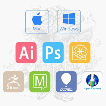 XP-PEN G640 6 x 4 Zoll Drawing Tablet Grafiktablett Pen Tablet OSU! Spielen für Fernunterricht Home-Office 20 Ersatz Nibs (G640, Schwarz) - 7