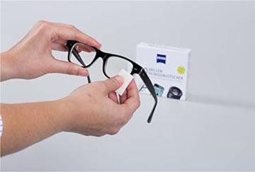 ZEISS Brillen-Reinigungstücher (200 Stk), NEUE Formulierung zur schonenden & gründlichen Reinigung Ihrer Brillengläser - 2