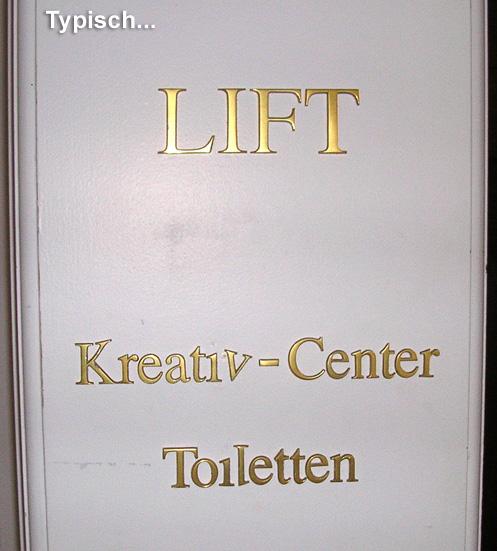 Kreativ-Center und Toiletten